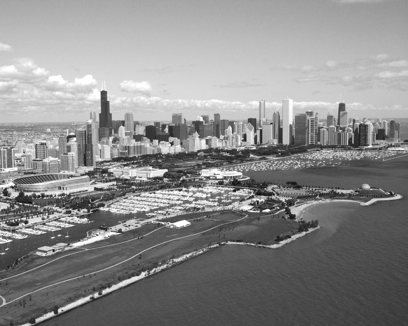 Chicago Black White Wallpaper Black White Chicago Daytime
