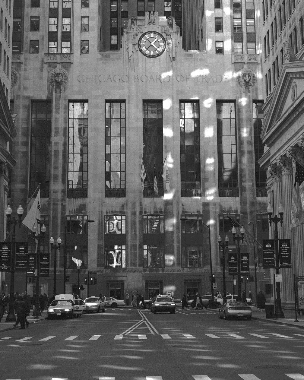 Chicago Black White Wallpaper Board Of Trade Looking Down La