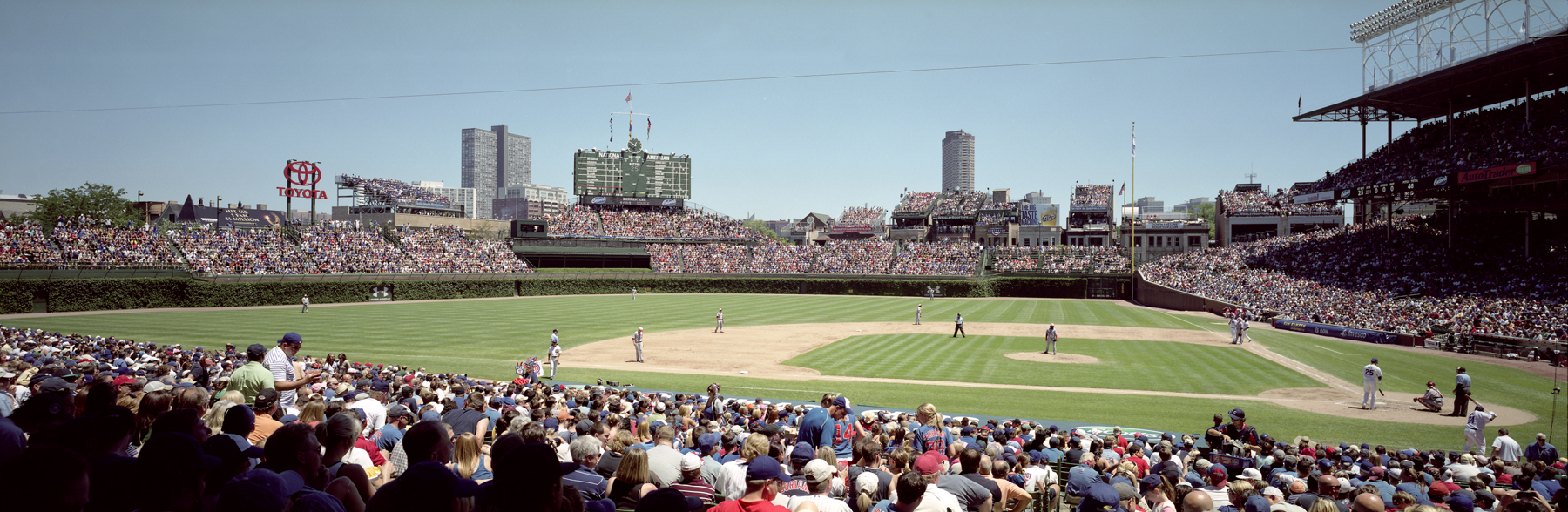 Chicago Cubs Wallpaper Wrigley Field Panoramic Cubs Vs Reds