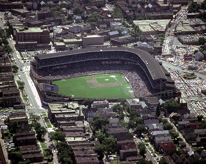 Chicago Cubs Wallpaper Wrigley Field Aerial In The 1980s